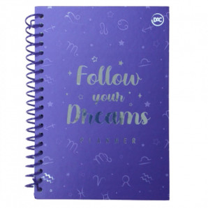 Planner Follow Your Dreams Roxo Espiral Dac